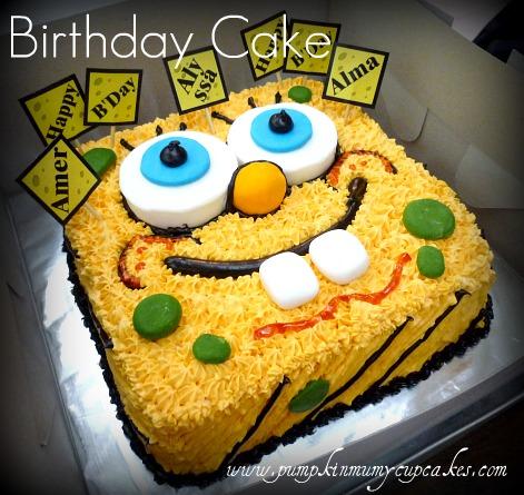 Hand Drawn Sponge Bob Cartoon Character Made For A Dear Friends Nieces Birthday