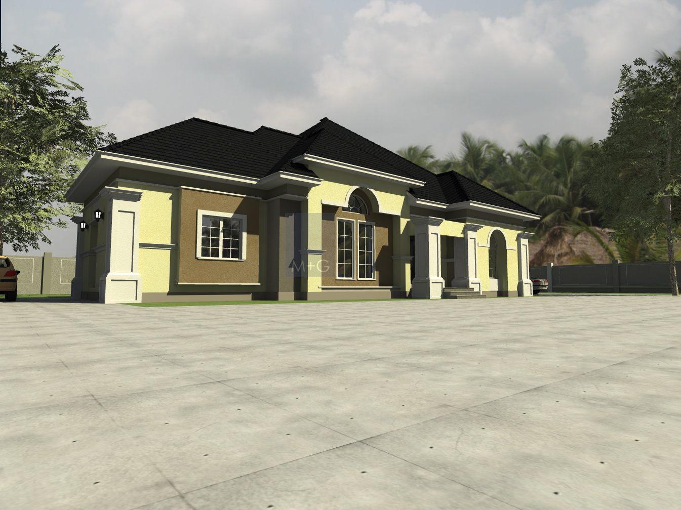 modern bungalow floor plan in nigeria joy studio design. Black Bedroom Furniture Sets. Home Design Ideas