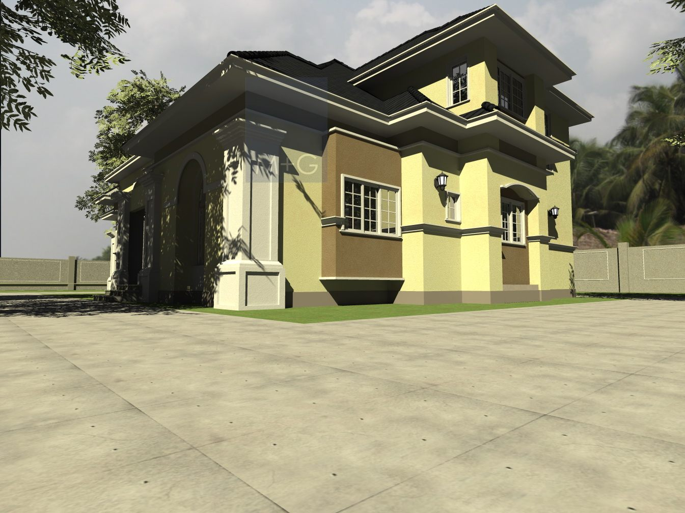 Contemporary nigerian residential architecture for How much does it cost to build a duplex