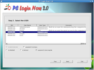 Reset unknown Windows pass-phrase by third party tools