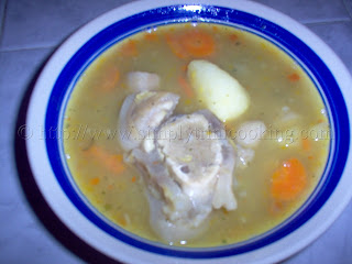 Cow Heel Soup,how to make cow heel soup, trini cooking