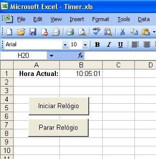 Visual Basic em Português: Excel: Implementando um Temporizado (Timer)