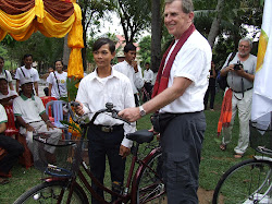 District 7070 2009 Rotary Sweat Equity Team Distribute Bicycles in Cambodia