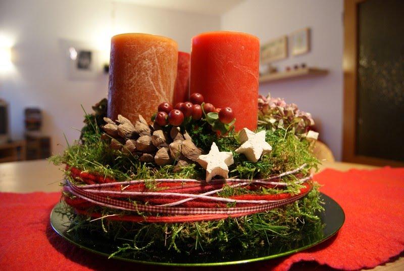 Filz und garten gartenblog adventskranz teil ii fertig ist die adventsdeko - Adventsdeko ideen ...