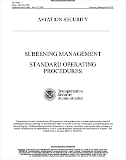 download: transportation security admin: screening procedures - standard operating procedures, 1 may '08