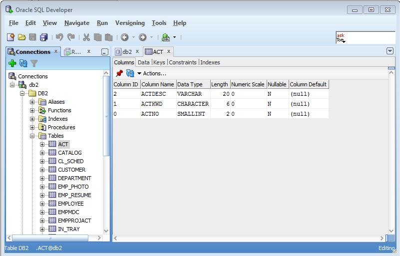 SQL Developer DB2 Connection