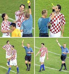Image result for Three Yellow Cards for Simunic