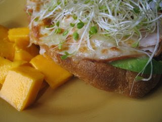 Turkey Sandwich with Mango