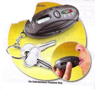 Pocket Keychain Breathalyzer Test