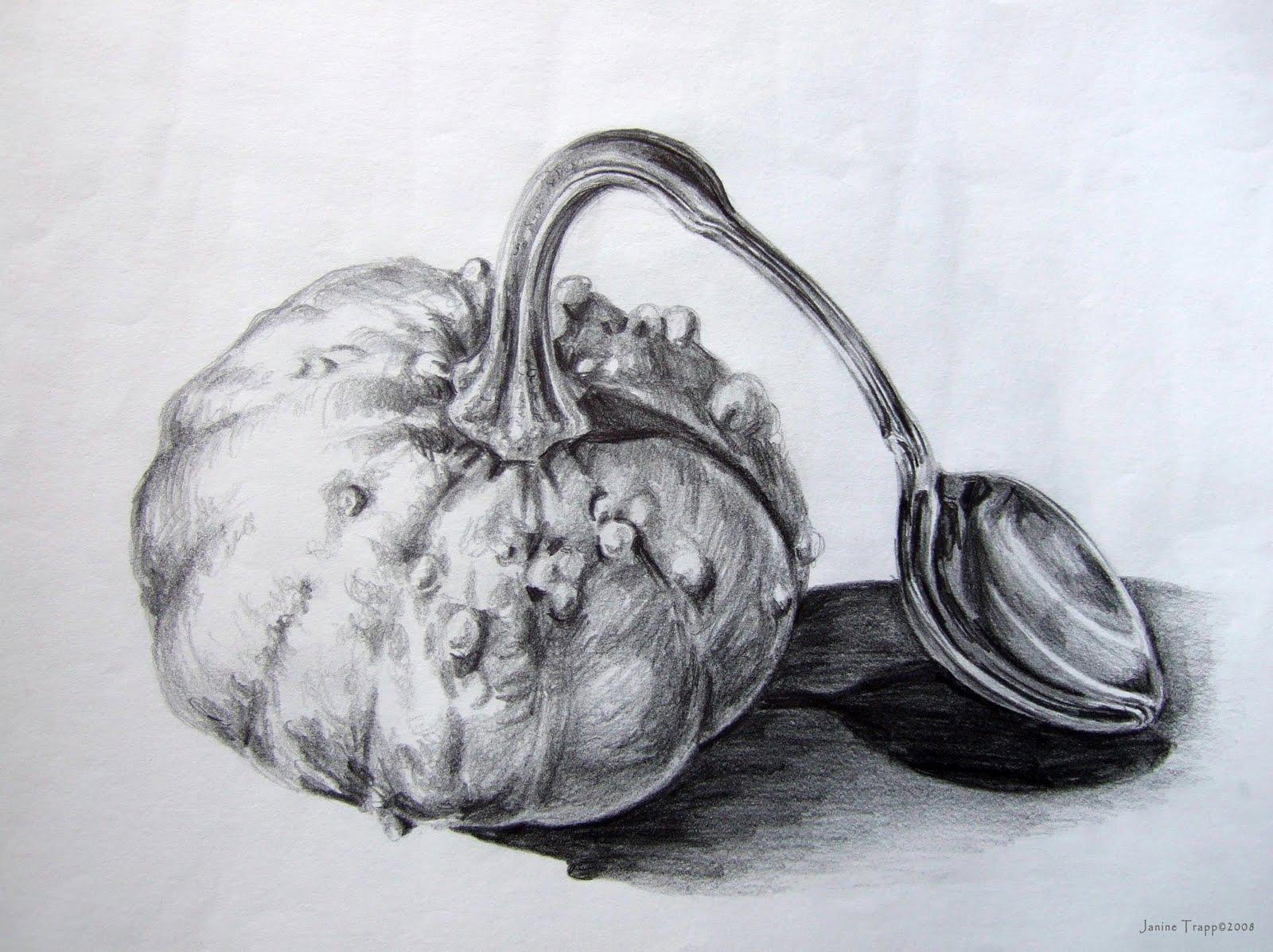 Pencil Drawings Of Fruit