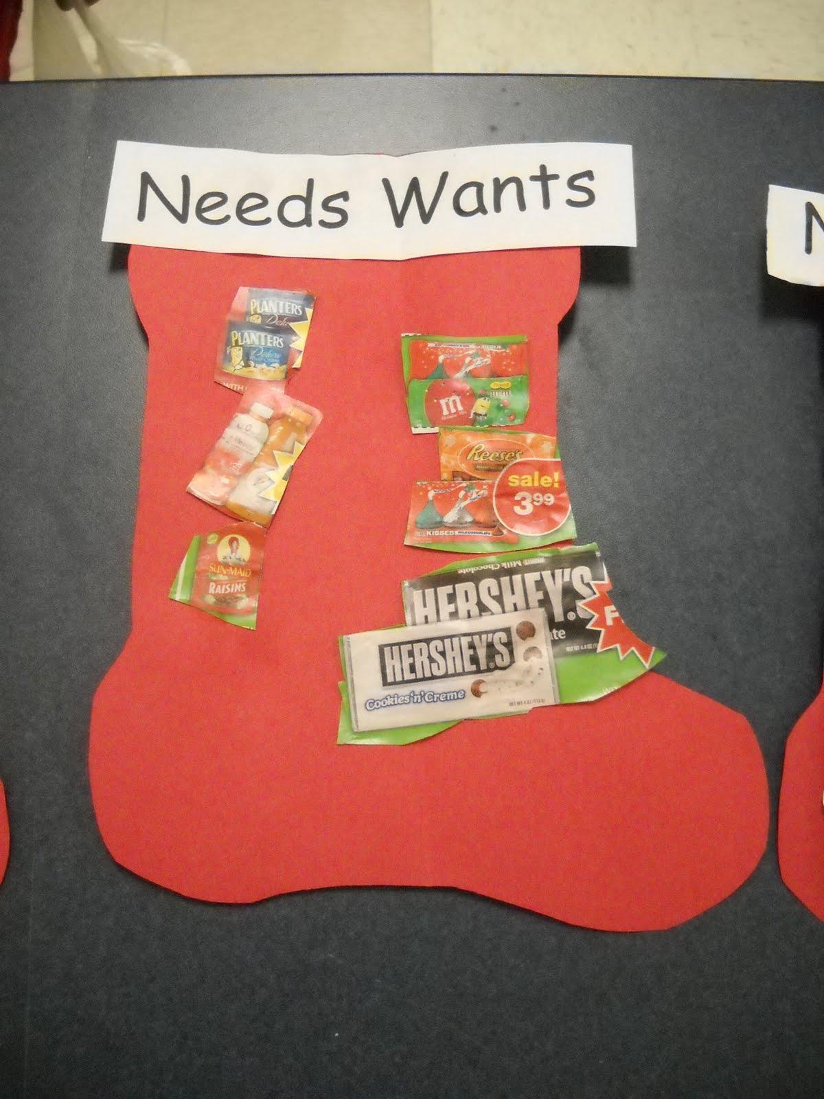 Kinder Garden: Mrs. Wood's Kindergarten Class: Needs And Wants