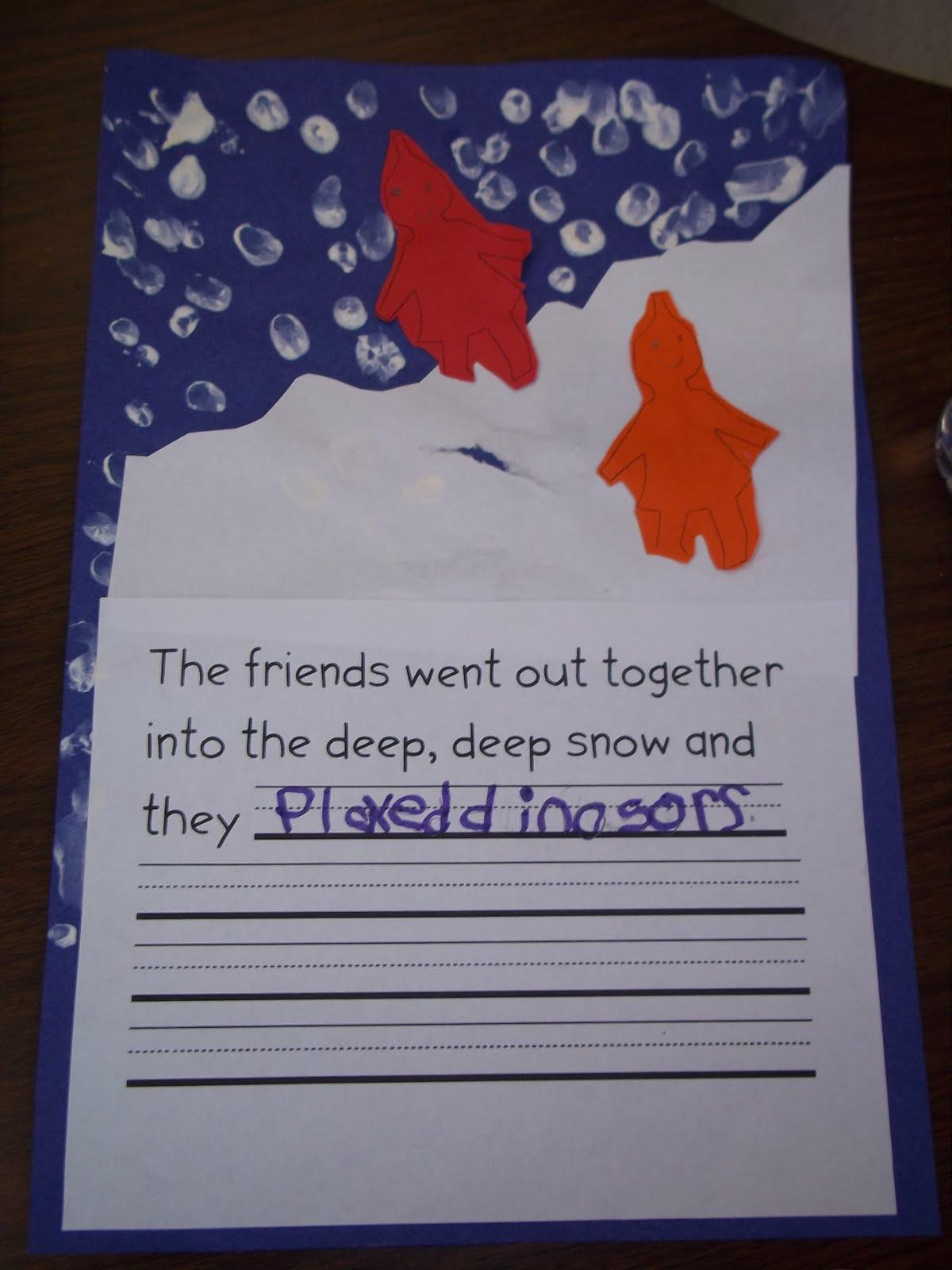 Mrs Wood S Kindergarten Class Snow Snow Snow