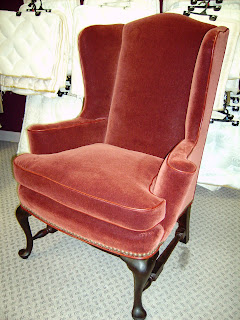 The Upholstery Blog The Mohair Wing Chair