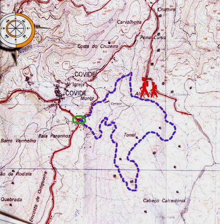 trilhos geres mapa Pedestrianismo e Percursos Pedestres: Trilho da Calcedónia (Gerês  trilhos geres mapa