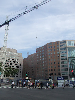 Construction project on Connecticut Avenue by Pei Cobb Freed and WDG Architecture, Washington DC