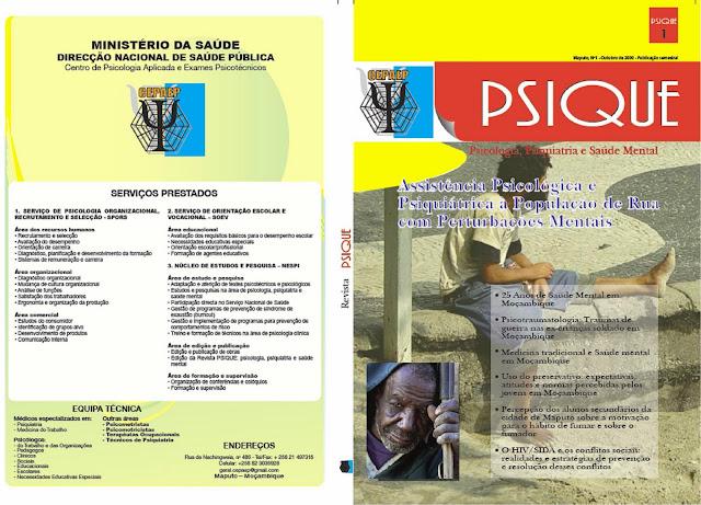 Resultado de imagem para Revista PSIQUE MOÇAMBIQUE