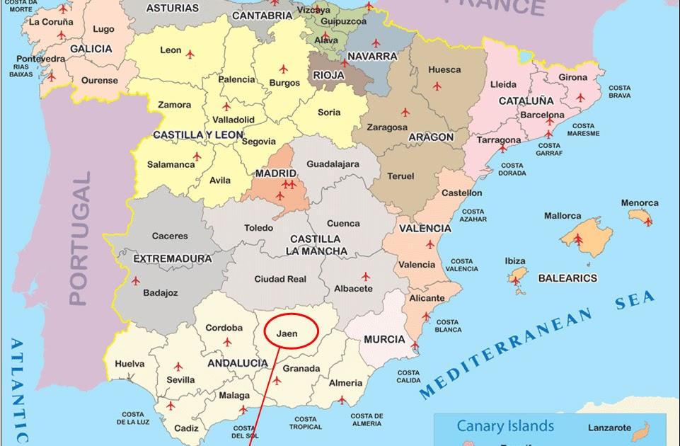 Map Of Spain Jaen.Map Of Spain Jaen Twitterleesclub