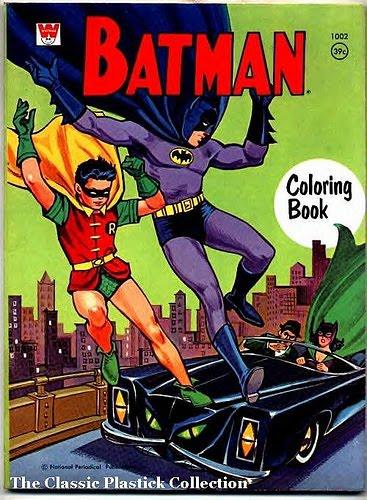 The Dork Review Coloring Books 1970 S Whitman Batman