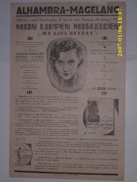 selebaran /poster tahun 1930an  SOLD/ TERJUAL