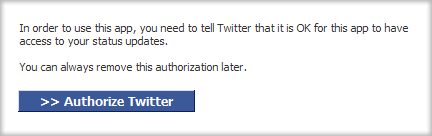 Authorize Twitter Tab access