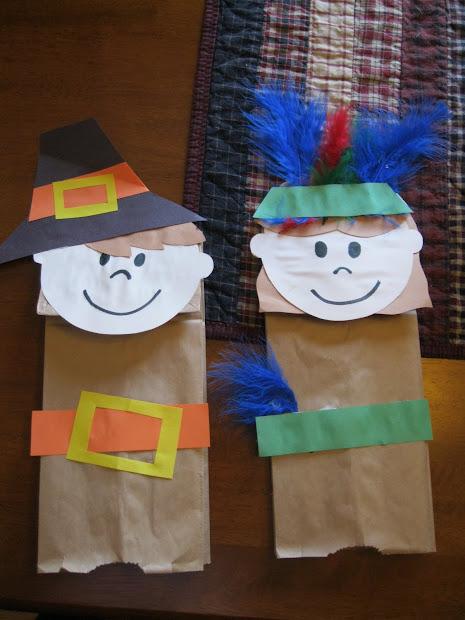 Paper Bag Thanksgiving Craft Pilgrims