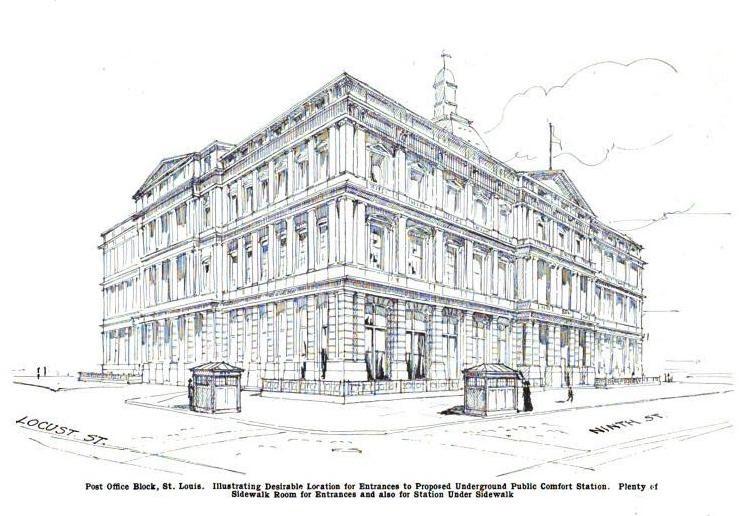bygone saint louis: Post Office Building, 1908