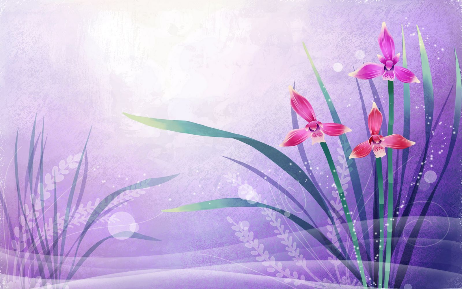 Abstract Design Flower Wallpaper: Beautifully Illustrated Vector Flower Backgrounds