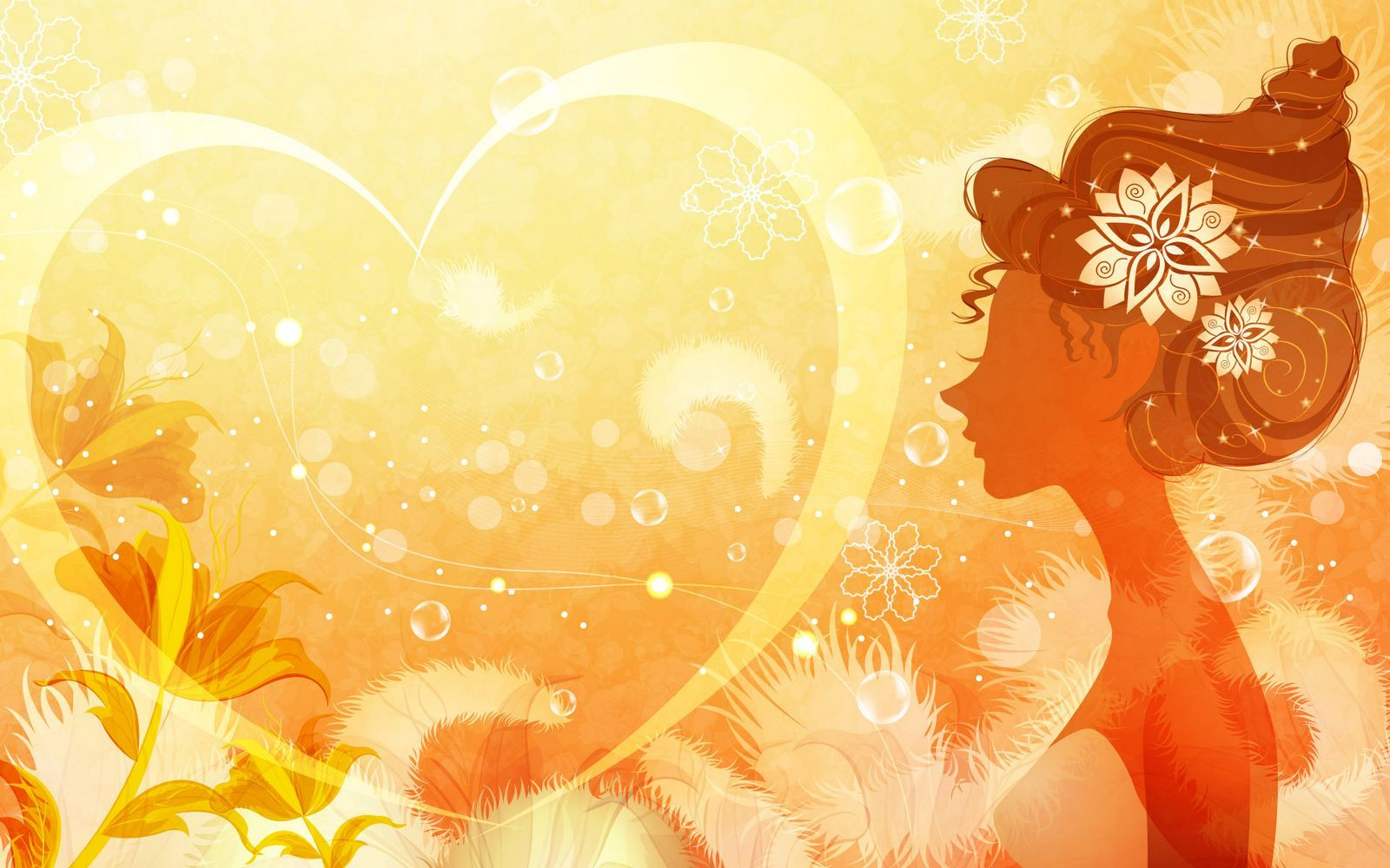 Wallpaper About Love With Quotes Vector Girls Illustrated Wallpapers