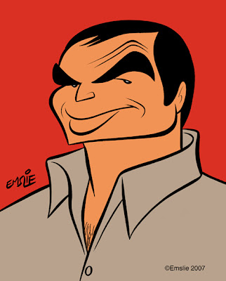 Caricature Sketch of Burt Reynolds