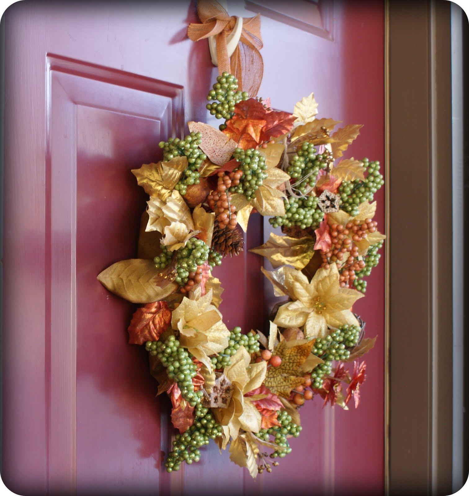 DIY Fall Wreath From Dollar Store Supplies