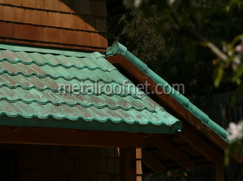 Copper Roofing Solid Copper Roof Tiles In California