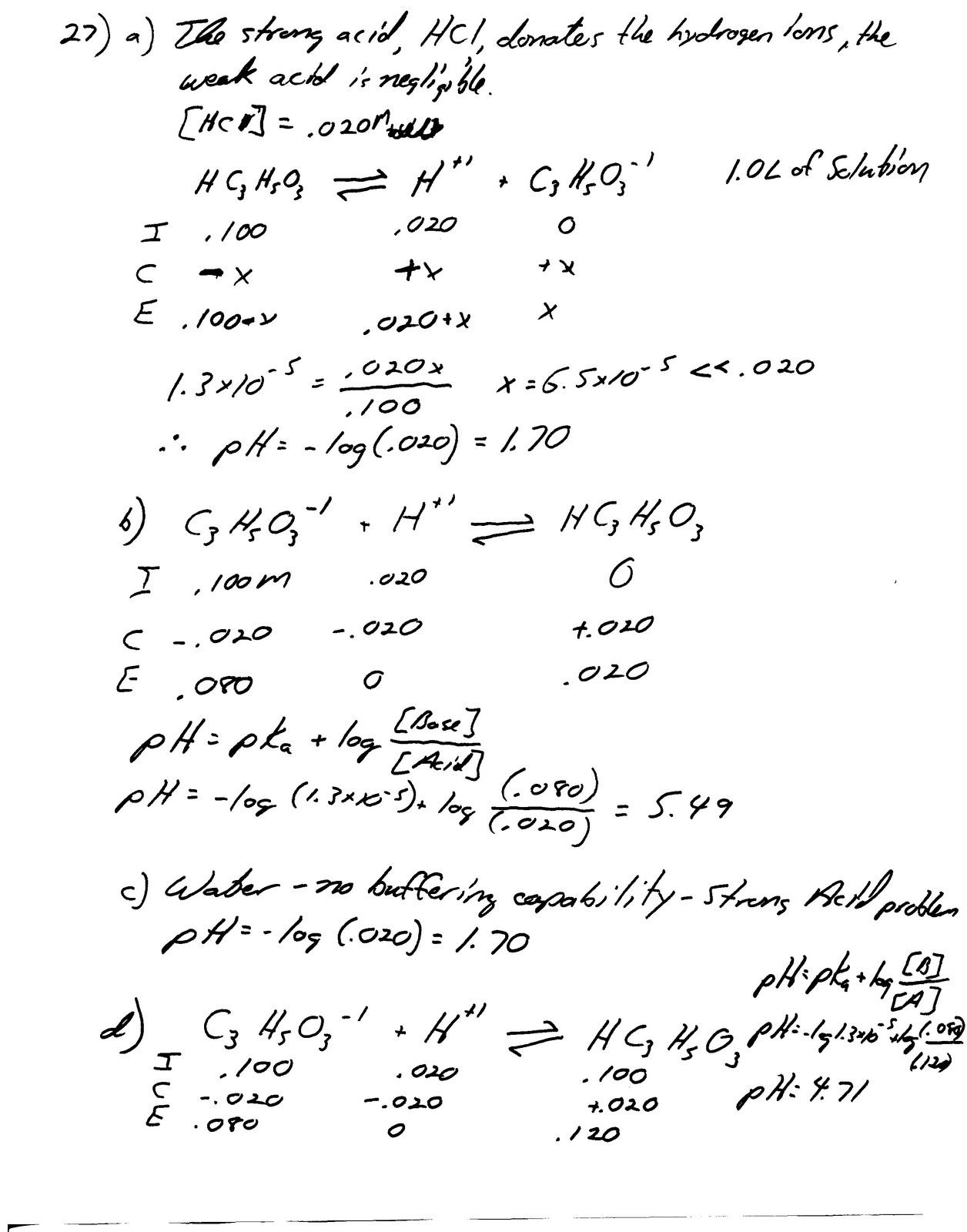 Heritage High School Ap Chemistry Homework Pages 774 775