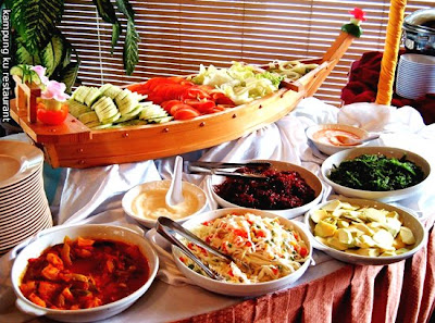 Picture courtesy of our caterer, Kampung Ku Restaurant