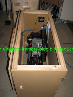 First Photo Shows The Soundproof Enclosure Showing Top Lid Open Cooling Fan Point And Air Hose Positioning Displayed