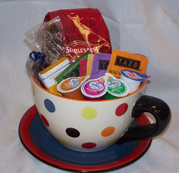 Coffee Or Tea Gift Basket Creamers Mugs And Biscotti Are A Few Of The Items You Could Include