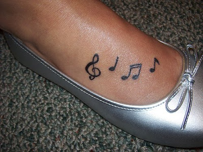 29b3b82c2 thesocktorialist: music note tattoos on foot