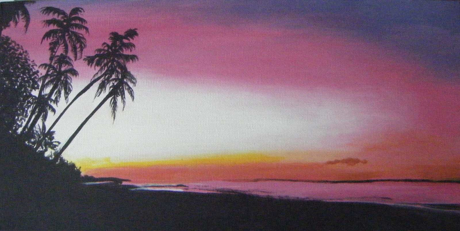 Acrylic Sunset Paintings On Canvas