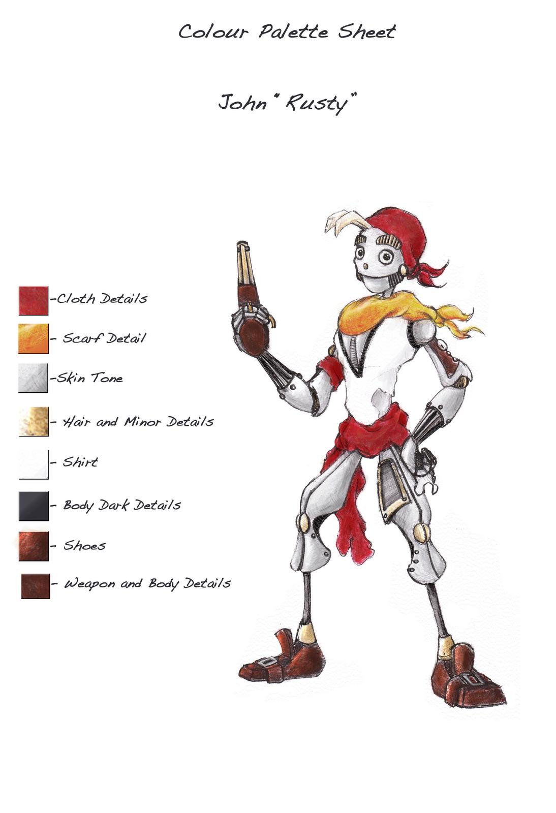 Ruben S Blogpage Unit 2 02 Character Design Colour Palette Sheet