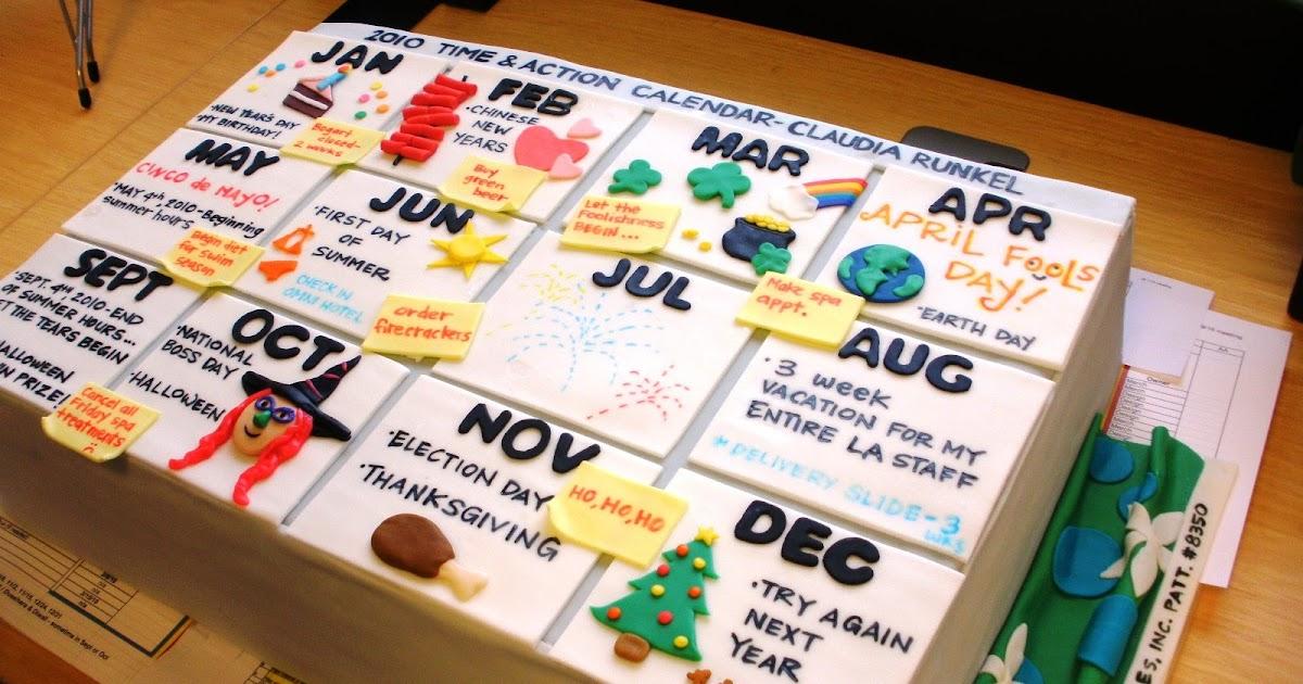 Sweet Catastrophe Calendar Theme Birthday Cake