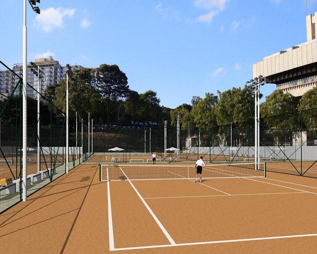 3 tipos de quadras de tênis de campo