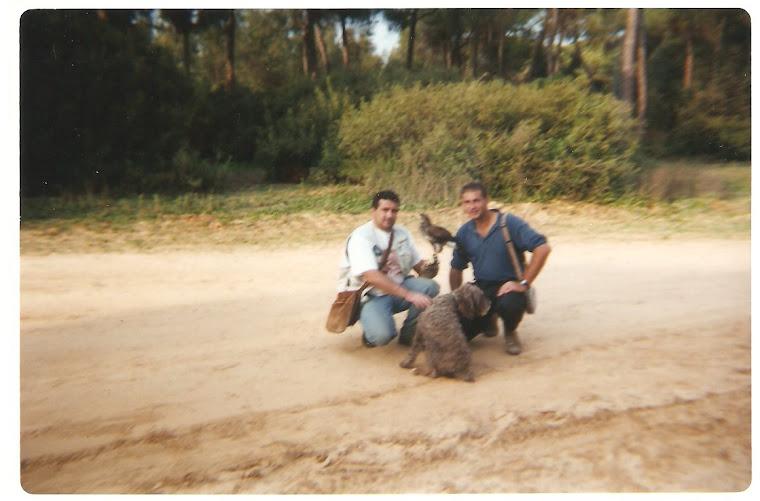 Con mi amigo Joaquín de Gerena, al cual debo este blog