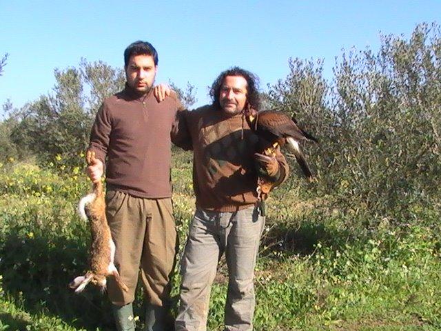 Junto a mi amigo Rafa, de Valencina.