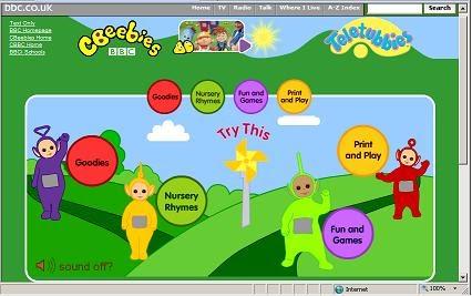 Children S Internet Teletubbies Page