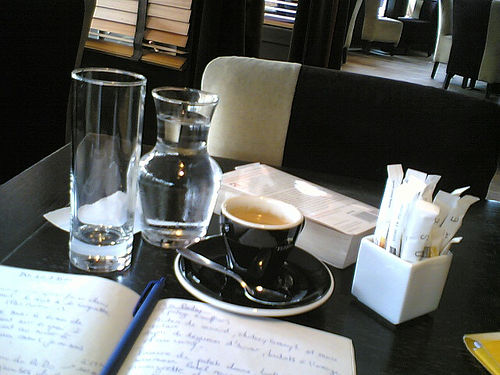 Un Café au Carré, photograph by Clotilde Dusoulier