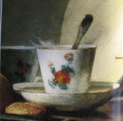 from Chardin's The Jar of Apricots