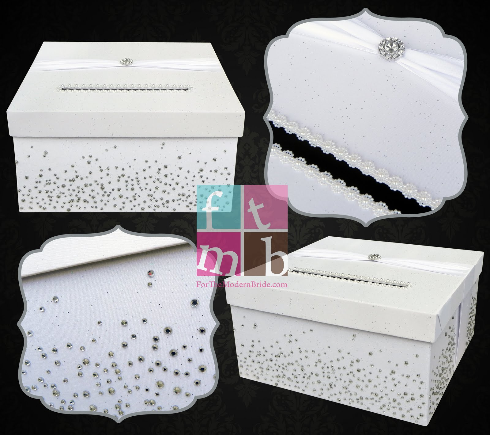 A Simple Single Custom Wedding Card Box Turned Into Sparkly Beauty That Fits Perfectly Chris S White Winter Wonderland