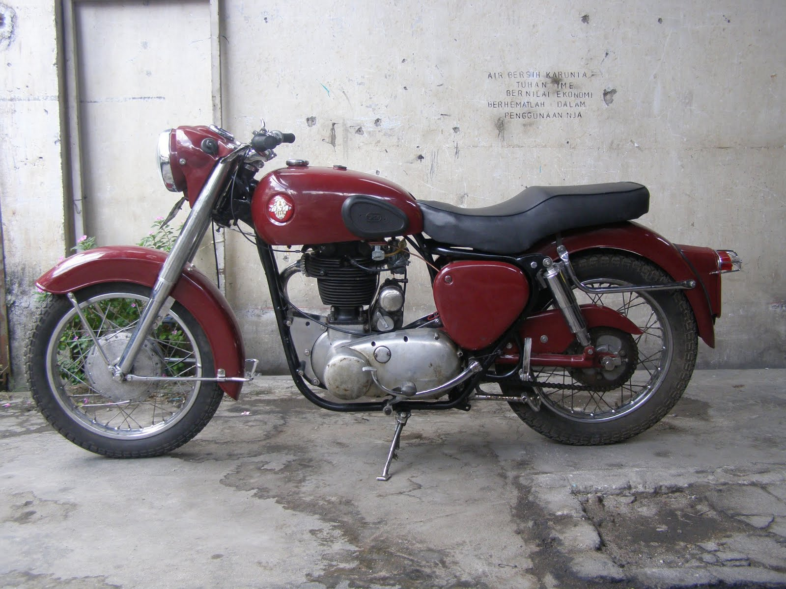 Motor Klasik Sepeda Tel Dan Barang Antik Dijual BSA Plastik Cc