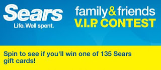 Sears Family and Friends January VIP Contest