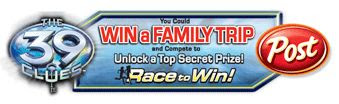 39 Clues Race to Win Instant Win Game