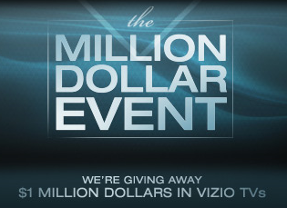 Vizio Million Dollar Sweespstakes